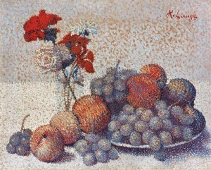 Eric Gillis Fine Art achille-laugé-still-life-with-flowers-and-fruits