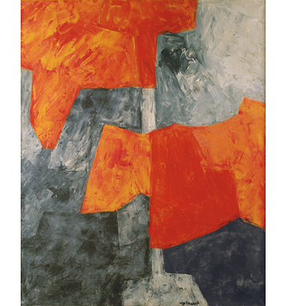 Gris et rouge, Serge Poliakoff