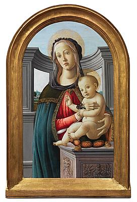 Studio of Alessandro Filipepi, called Sandro Botticelli - The Madonna and Child with a Goldfinch