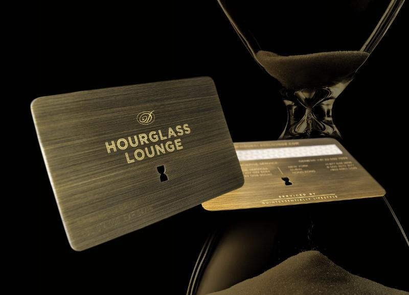 Oettinger Davidoff Hourglass Lounge Membership Card