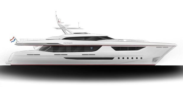 heesen at a top speed of 23 knots with new 38mt project nina superyachtdigest. Black Bedroom Furniture Sets. Home Design Ideas