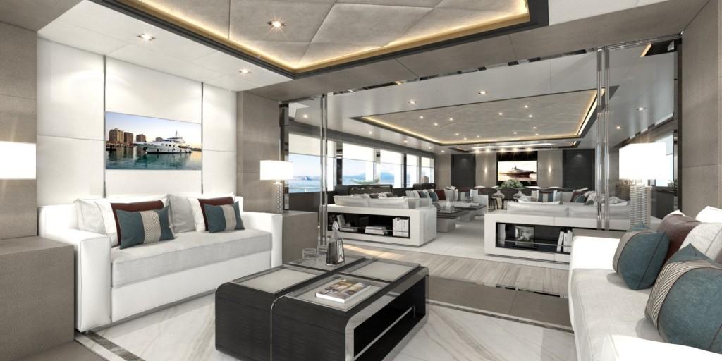 Majesty 175: interior, main salon (rendering)